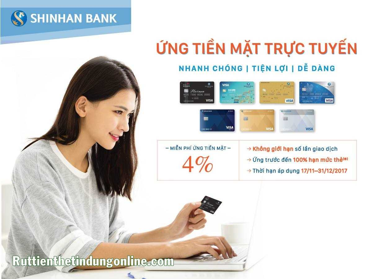 rut tien the tin dung shinhan bank