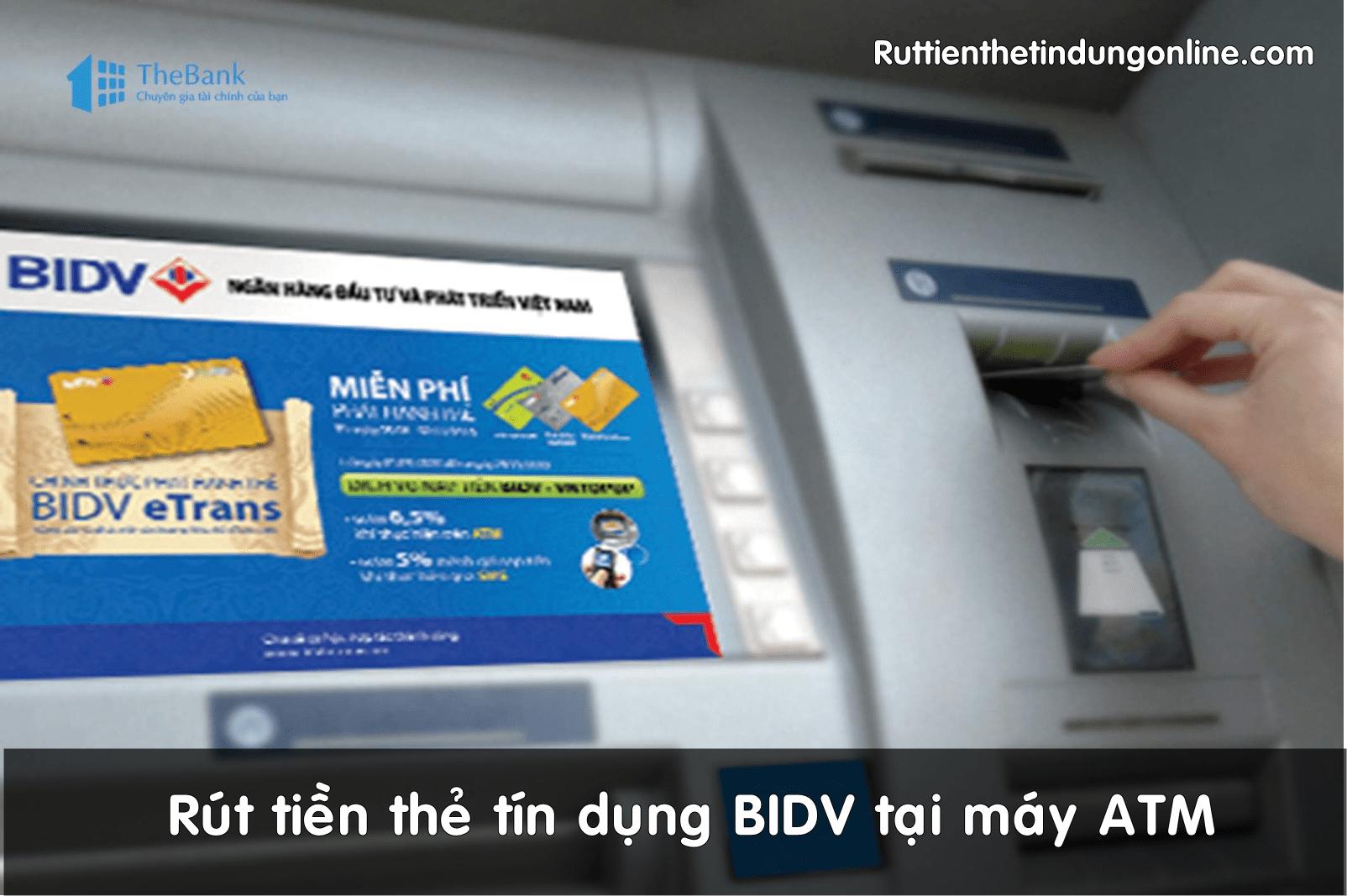 rut tien the tin dung bidv