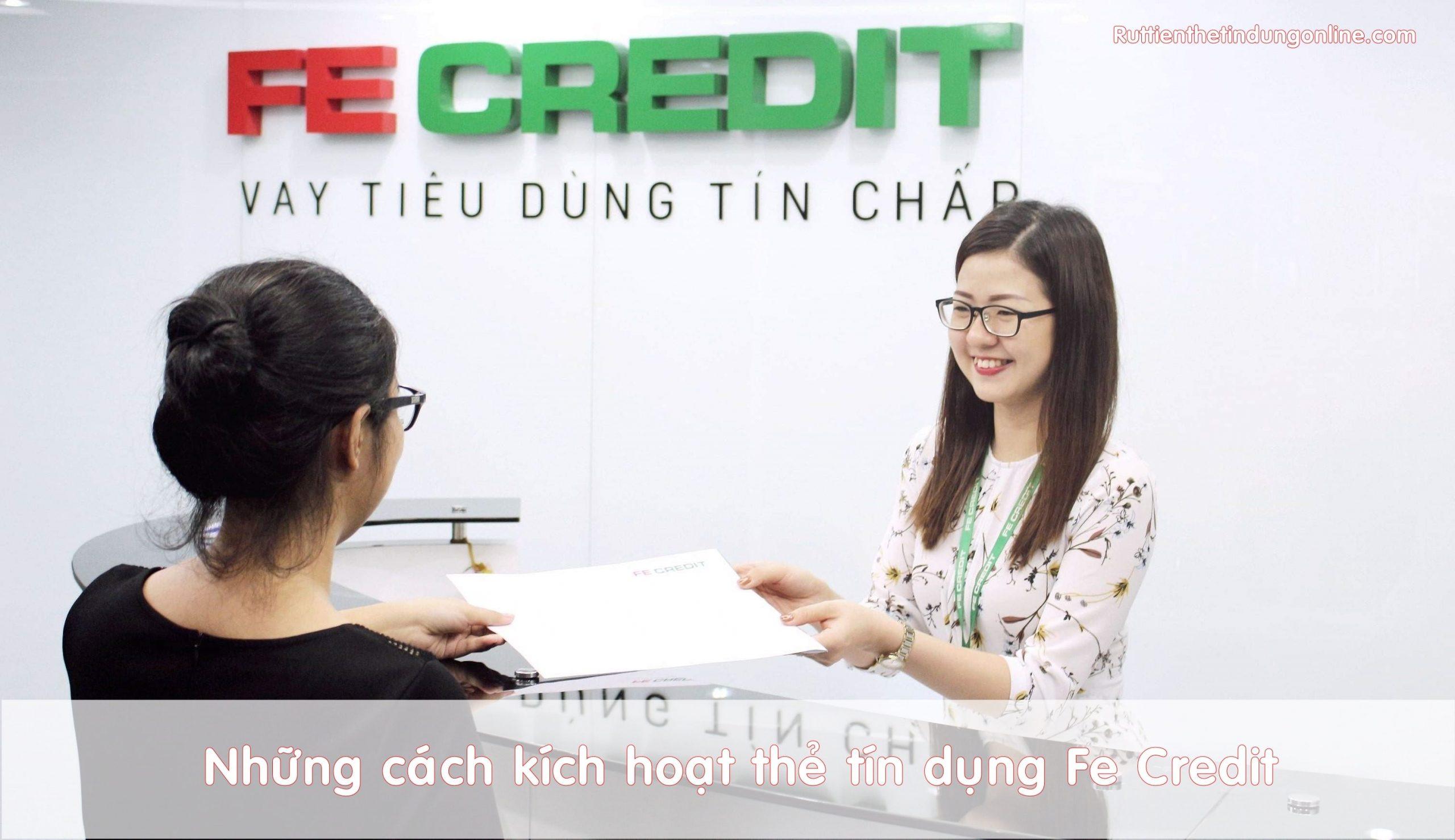 khong kich hoat the tin dung fe credit co sao khong