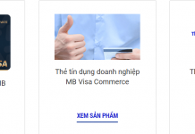 lam the tin dung mbbank online