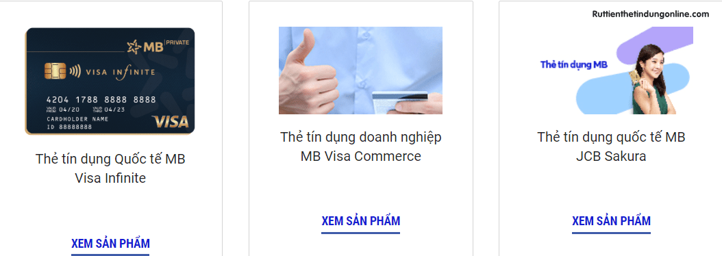 lam the tin dung mbbank online