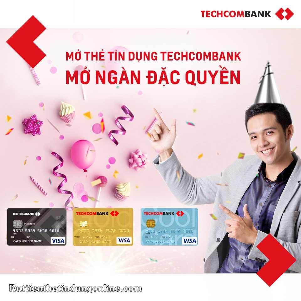cach rut tien mat tu the tin dung techcombank