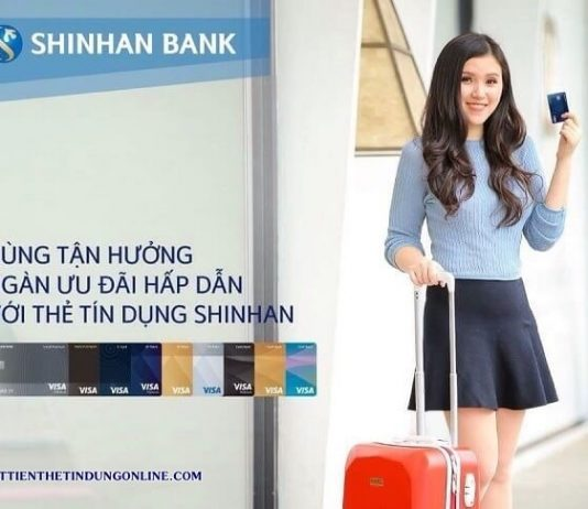 thanh toan du no the tin dung shinhan bank