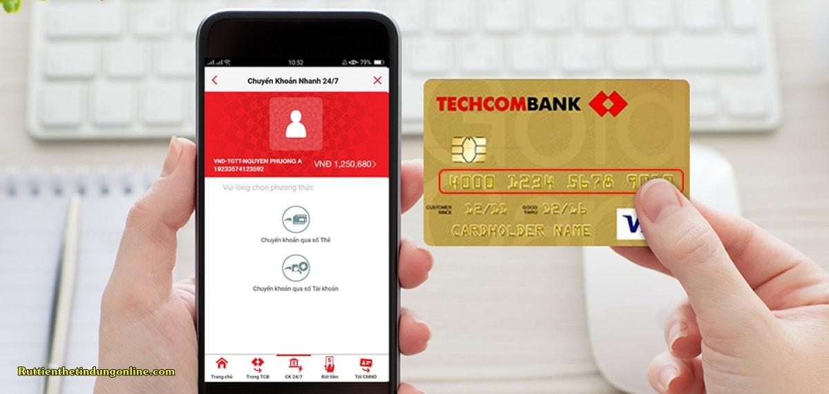the tin dung techcombank co chuyen khoan duoc khong