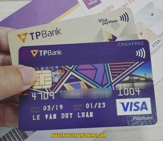 the visa tpbank co rut duoc tien mat khong