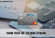 Thanh toan the tin dung citibank