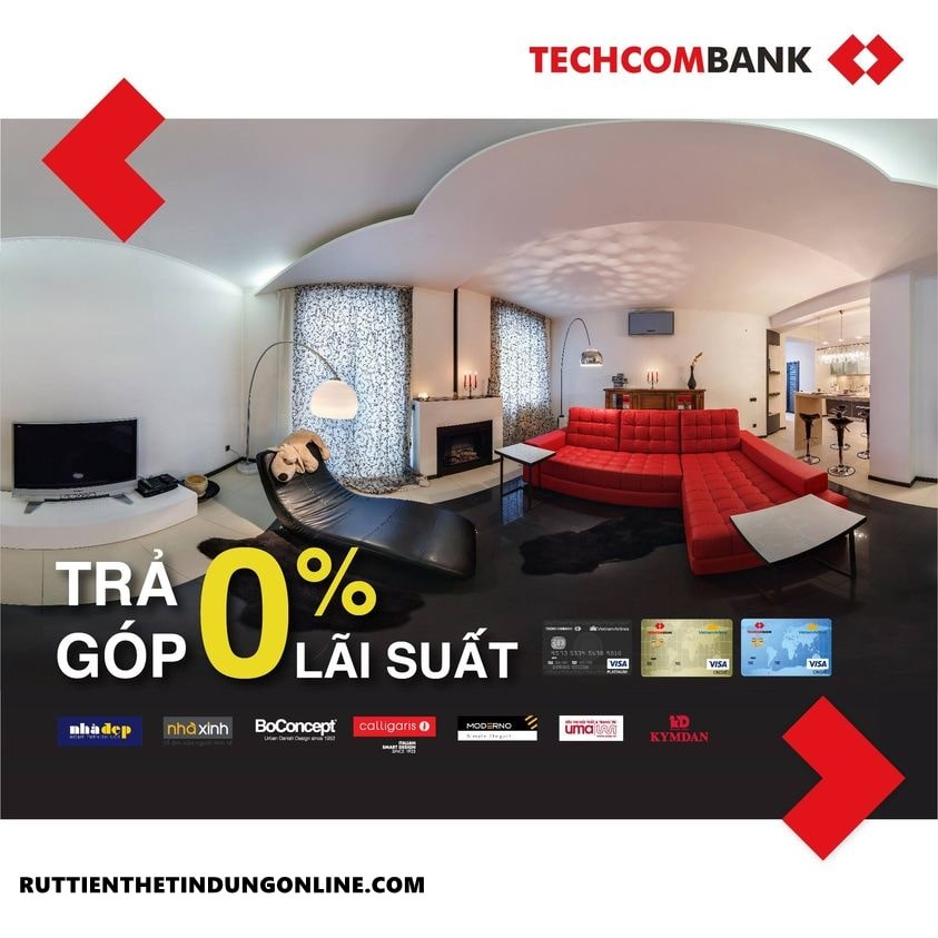 Mua tra gop qua the tin dung techcombank