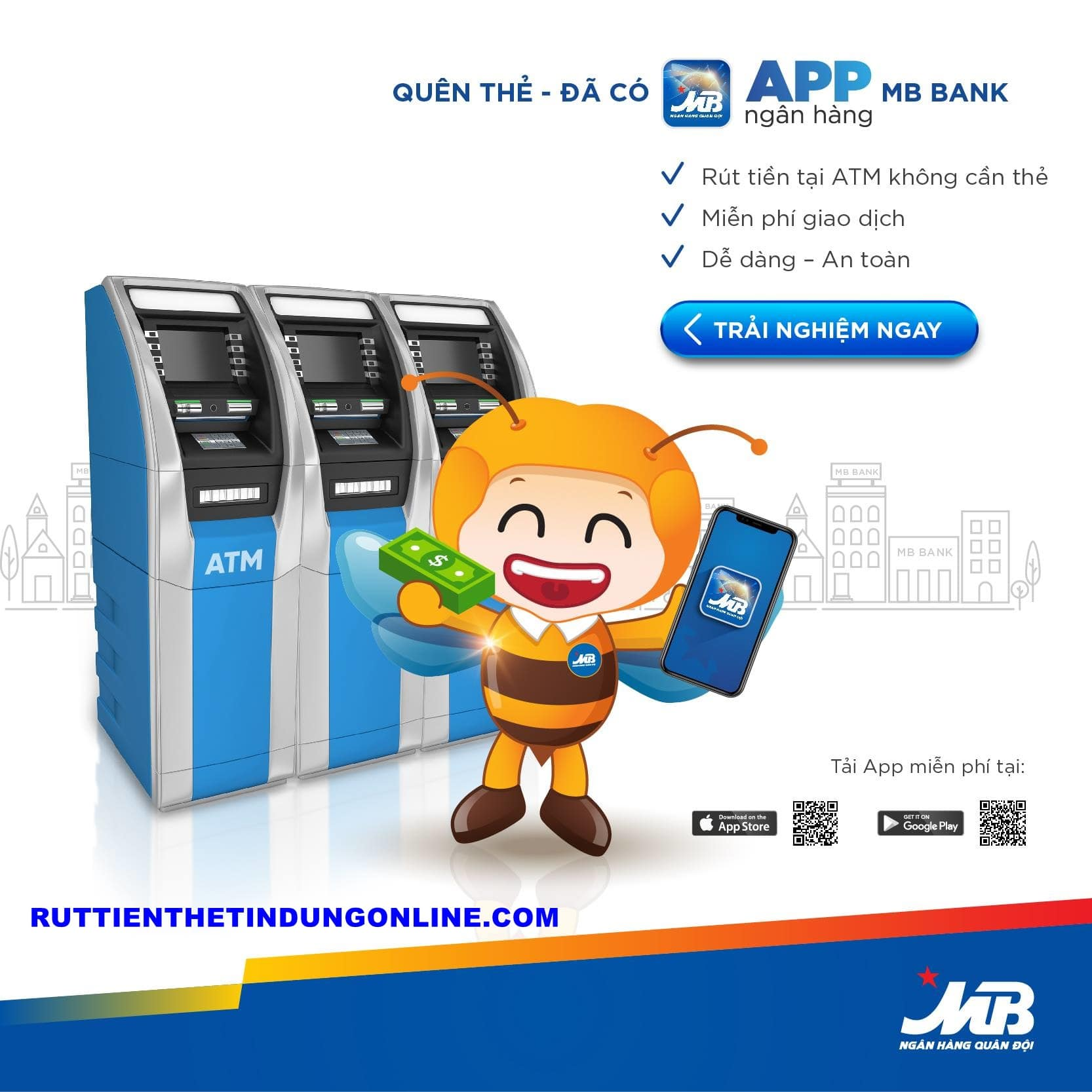 Rút tiền qua app MB tối đa bao nhiêu tiền