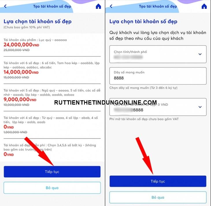 mở tài khoản ngân hàng MB online