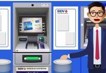 Rút tiền không cần thẻ BIDV